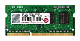Transcend 2GB DDR3-1600 Low Voltage Notebook Memory