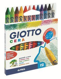 Giotto Cera 12 Wax Crayons