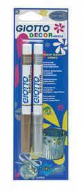 Giotto Decor Metal 2 Metallic Ink Fibre-Tip Pens