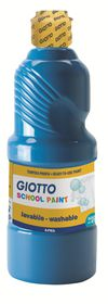 Giotto School Paint 500ml - Cyan