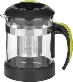 Trudeau - Tea Maker 600ml - Silver and Black With Clear Beaker