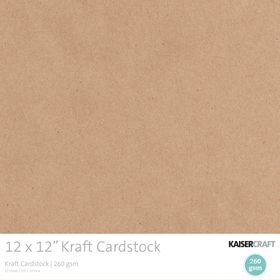 Kaisercraft Kraft Cardstock Pack (20 Sheets)