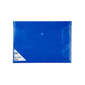 Meeco A4 Creative Colour Carry Folder - Blue