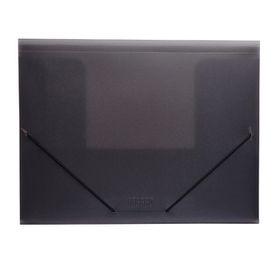 Meeco Foolscap PVC Elastic Carry Folder - Black