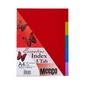 Meeco Executive A4 5 Tab Multi Colour Indexes