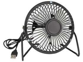 Marco USB Metal Desk Fan - Black