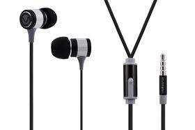 Volkano Metallic Series Earphones with Mic - Black