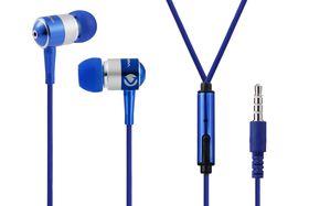 Volkano Metallic Series Earphones with Mic - Blue