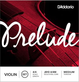 D'Addario Prelude Medium Tension 4/4 Scale Violin Strings