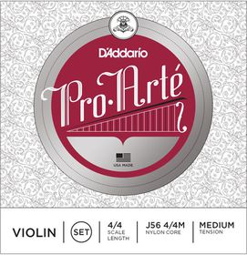 D'Addario J56 4/4M Pro-Arte Medium Tension 4/4 Scale Violin Strings