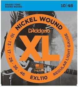 D'Addario EXL110 Nickel Wound Regular Light Electric Guitar Strings - 10-46
