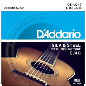 D'Addario EJ40 Silk & Steel Folk Guitar Strings - 11-47