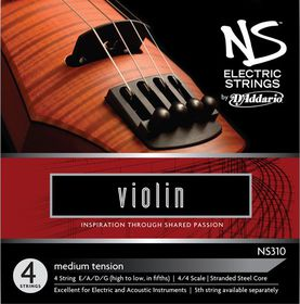 D'Addario NS Electric Medium Tension 4/4 Scale Violin Strings