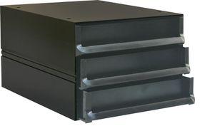 Bantex Texo Modular 3 Drawer Storage System - Black
