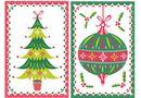 8 Mini Afrikaans Cards - Festive Bauble/Decorative Tree