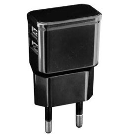 Gizzu Dual Port USB Universal Wall Charger - Black
