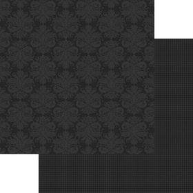 Lady Pattern Paper Basic Essentials Damask - Onyx Black (10 Sheets)