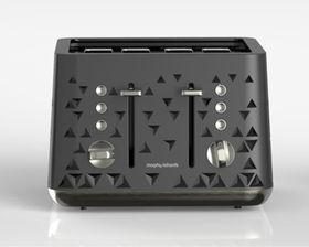 Morphy Richards 4 Slice Prism Toaster - Black
