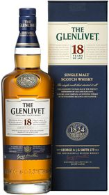 The Glenlivet 18 Year Old Single Malt Whiskey (750ml)