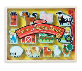 Melissa & Doug Farm Lacing Beads