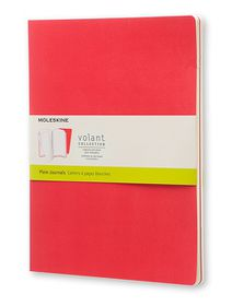 Moleskine Volant Journal Plain Large Scarlet Red