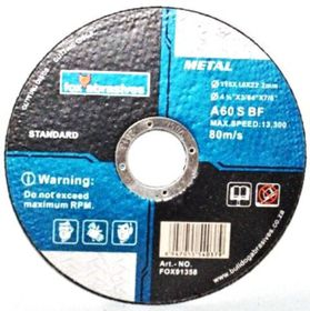 Fox Tools - Abrasive Cutting Disc Steel Standard - 115 x 1.0mm