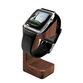 Tuff-Luv Moulded Charging Stand Wood for Apple Watch (Mahogany Effect)