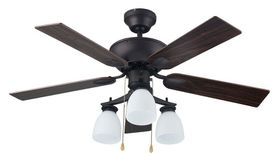 Bright Star - Ceiling Fan - Brown