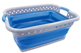 LeisureQuip - Foldaway Laundry Basket - Blue