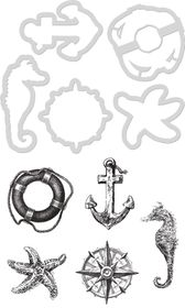 Kaisercraft Cutting Die & Stamp - Nautical