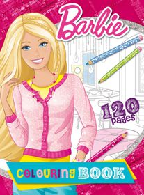 Barbie 120 Page Colouring Book