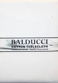 Balducci - Cotton White Tablecloth - 10 Seater