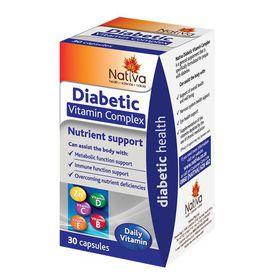 Nativa Diabetic Vitamin Complex Capsules - 30s