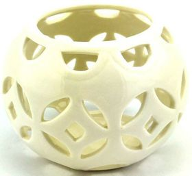 Pamper Hamper - Ceramic Candle Holder - Oval White