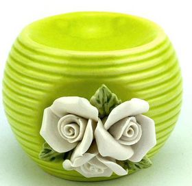 Pamper Hamper - Ceramic Oil Burner - Green