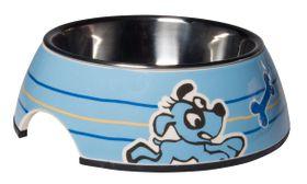 Rogz Pupz 2-in-1 Blue Ringo Puppy Bubble Bowl - Small
