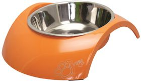 Rogz 2-in-1 Luna Orange Dog Bowl - Small