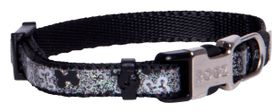 Rogz Lapz Trendy Black Bones Side Release Dog Collar - Extra Small