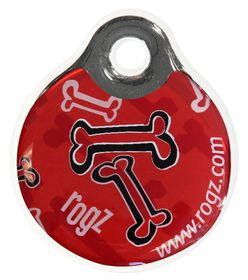 Rogz ID Tagz Rogz Bone Instant Resin Tag Red - Large