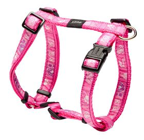 Rogz Fancy Dress Pink Paws Dog H-Harness - Medium