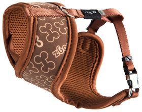 Rogz Lapz Trendy Brown Bones Wrapz Harness - Extra Small
