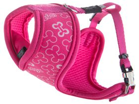 Rogz Lapz Trendy Pink Bones Wrapz Harness - Extra Small