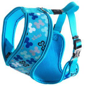Rogz Lapz Extra Trendy Blue Bones Wrapz Harness - Medium