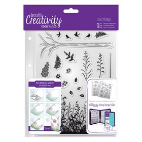 Docrafts Creativity Essentials A5 Clear Stamp Set - Forest