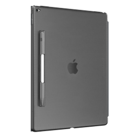 "SwitchEasy CoverBuddy Hard Back Cover with Pencil Holder for the iPad Pro 12.9"" - Translucent Black"