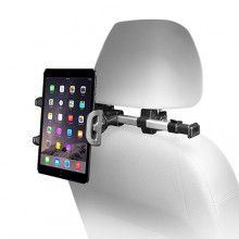 MACALLY - Adjustable Car Seat Headrest Pro mount for iPad/and other tablets (Aluminium)
