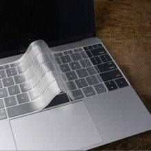 MACALLY - Clear Protective Keyboard Cover - Compatible with 12-inch Macbook