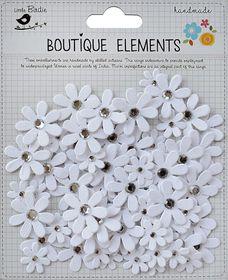 Little Birdie Jewelled Florettes - White (80 Pcs)