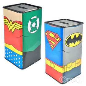 Justice League Outfits Money Box