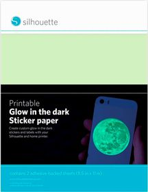 Silhouette Printable Glow-in-the-Dark Sticker Paper